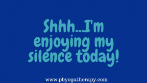 How do you feel about silence?